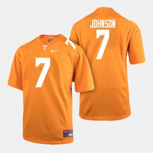 Men's UT Football #7 Brandon Johnson college Jersey - Orange