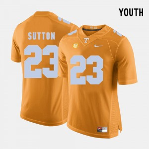 Kids Tennessee Football #23 Cameron Sutton college Jersey - Orange
