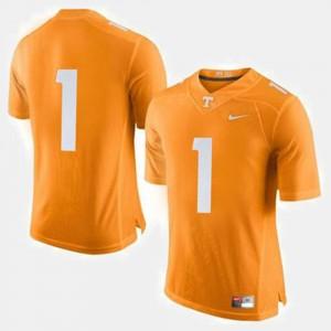 Men #1 UT Football college Jersey - Orange