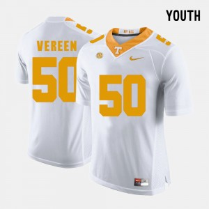 Youth #50 TN VOLS Football Corey Vereen college Jersey - White