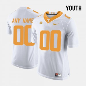 Kids Vols #00 Limited Football college Customized Jerseys - White
