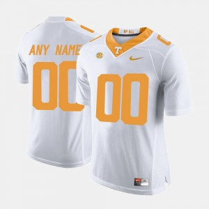Men's Limited Football University Of Tennessee #00 college Customized Jersey - White