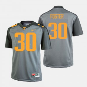 Men UT Volunteer #30 Football Holden Foster college Jersey - Gray