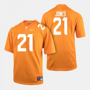 Men's VOL Football #21 Jacquez Jones college Jersey - Orange