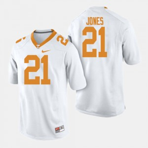 Men's Football #21 Vols Jacquez Jones college Jersey - White
