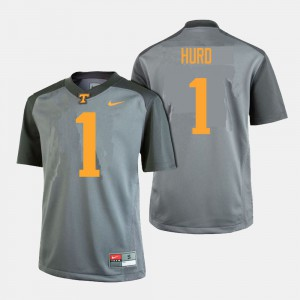 Men #1 TN VOLS Football Jalen Hurd college Jersey - Gray