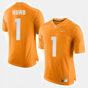 Mens #1 UT Volunteer Football Jalen Hurd college Jersey - Orange