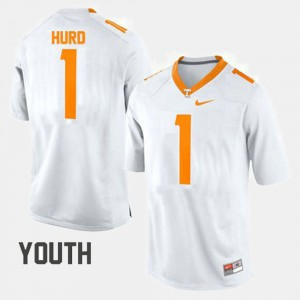 Kids Football #1 VOL Jalen Hurd college Jersey - White