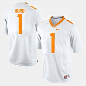 Men's #1 Football VOL Jalen Hurd college Jersey - White