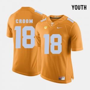 Kids #18 Football VOL Jason Croom college Jersey - Orange