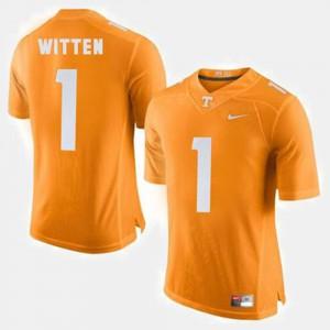 Men Tennessee Vols Football #1 Jason Witten college Jersey - Orange
