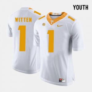 Kids #1 Football UT VOLS Jason Witten college Jersey - White