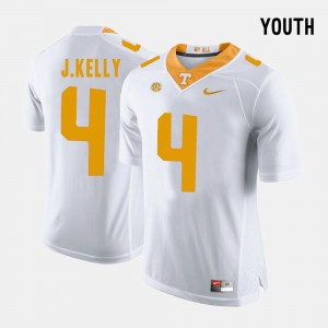 Youth(Kids) #4 UT Football John Kelly college Jersey - White