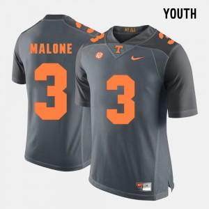 Youth #3 UT VOL Football Josh Malone college Jersey - Grey