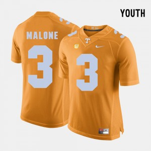 Kids Football #3 TN VOLS Josh Malone college Jersey - Orange