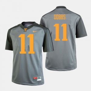 Men's #11 Tennessee Vols Football Joshua Dobbs college Jersey - Gray