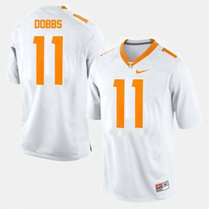 Men Tennessee Volunteers #11 Football Joshua Dobbs college Jersey - White