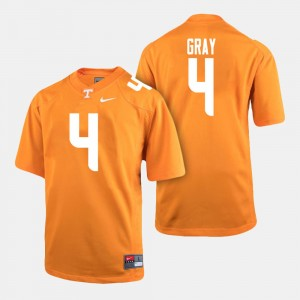 Men's Football #4 University Of Tennessee Maleik Gray college Jersey - Orange