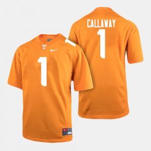 Men #1 Vols Football Marquez Callaway college Jersey - Orange