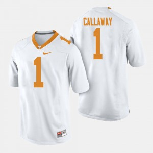 Men's Football #1 Tennessee Volunteers Marquez Callaway college Jersey - White