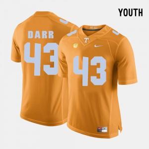 Kids #43 TN VOLS Football Matt Darr college Jersey - Orange