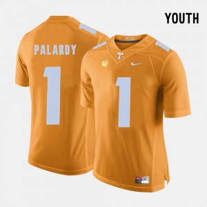 Youth(Kids) Football UT Volunteer #1 Michael Palardy college Jersey - Orange