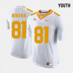 Youth Football Tennessee #81 Mychal Rivera college Jersey - White