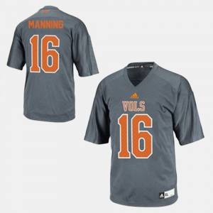 Men Football #16 Tennessee Vols Peyton Manning college Jersey - Gray