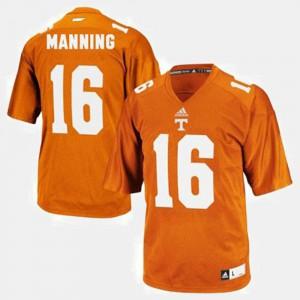 Kids #16 University Of Tennessee Football Peyton Manning college Jersey - Orange