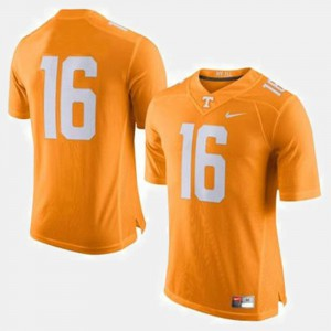 Men #16 Football Tennessee Volunteers Peyton Manning college Jersey - Orange