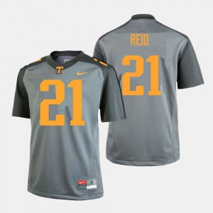 Men Football #21 Tennessee Volunteers Shanon Reid college Jersey - Gray