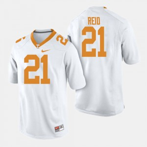 Mens #21 UT VOL Football Shanon Reid college Jersey - White