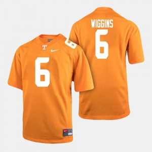 Men's Football Tennessee Vols #6 Shaq Wiggins college Jersey - Orange