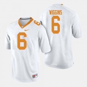 Men's VOL #6 Football Shaq Wiggins college Jersey - White