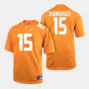 Men #15 UT VOLS Football Shawn Shamburger college Jersey - Orange