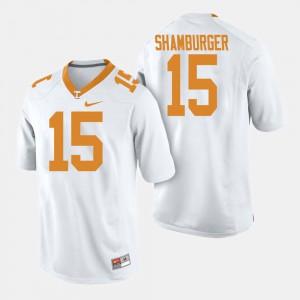 Men VOL #15 Football Shawn Shamburger college Jersey - White