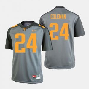 Men UT VOLS Football #24 Trey Coleman college Jersey - Gray