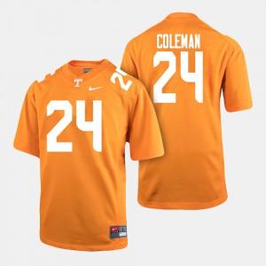 Men Tennessee Volunteers Football #24 Trey Coleman college Jersey - Orange