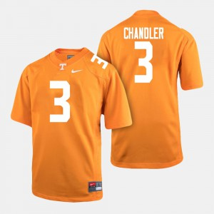 Men's #3 Football UT VOL Ty Chandler college Jersey - Orange