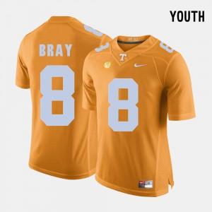 Kids UT #8 Football Tyler Bray college Jersey - Orange