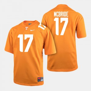 Men's Tennessee #17 Football Will McBride college Jersey - Orange