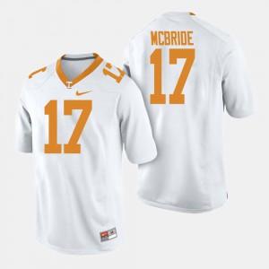 Men #17 Football UT Will McBride college Jersey - White