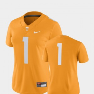 Womens #1 UT VOL Football 2018 Game college Jersey - Tennessee Orange