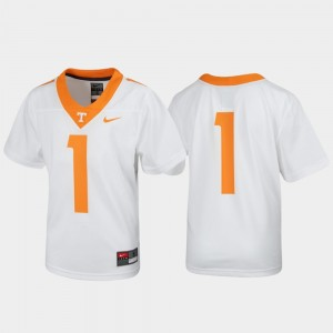 Kids #1 Football Untouchable Tennessee Volunteers college Jersey - White